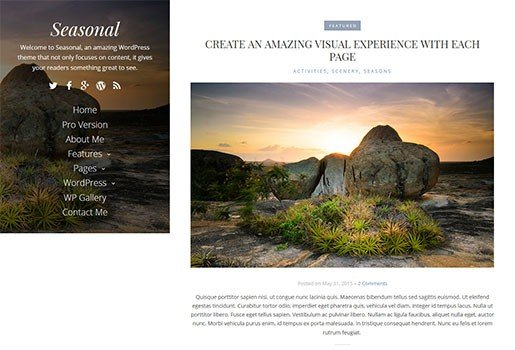 seasonal-wordpress-blog-theme-free
