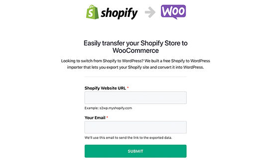 Migrateur de Shopify vers WooCommerce