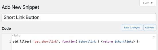Copiez et collez l'extrait de code dans la zone de code
