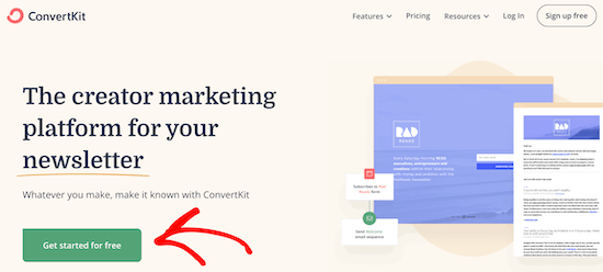 Sign up for ConvertKit