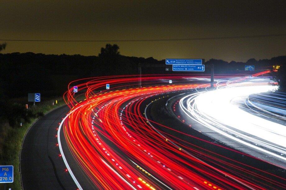 traffic, highway, lights