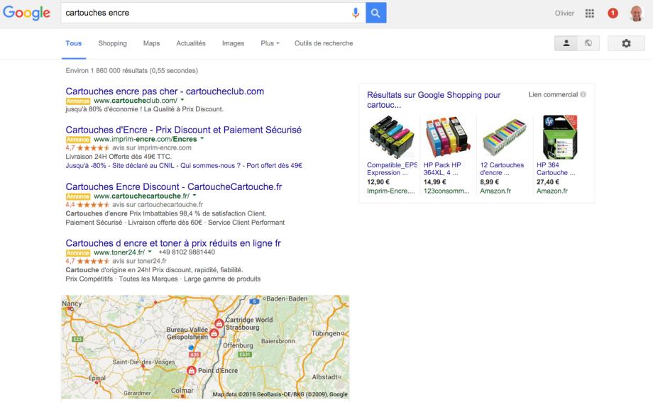 voici la porte derobee secrete lors de la publicite sur google adwords