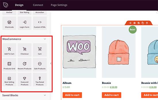 Blocs SeedProd WooCommerce