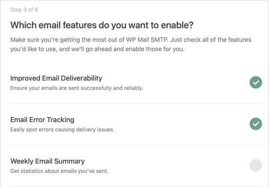 Activer les fonctionnalités de messagerie SMTP de WP Mail