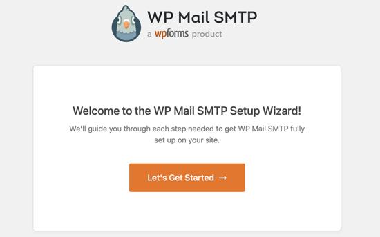 L'assistant de configuration SMTP de WP Mail démarrera automatiquement