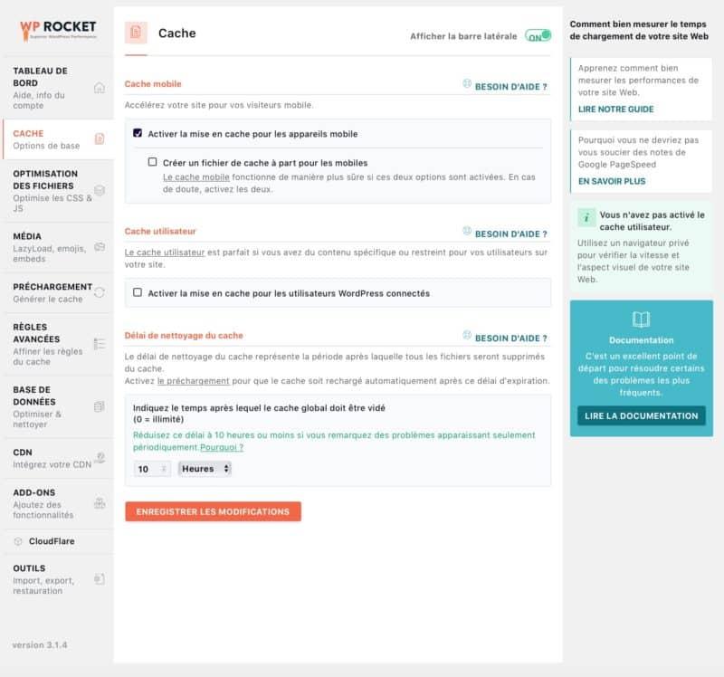 wordpress wp rocket comment accelerer son site avec un plugin de mise en cache