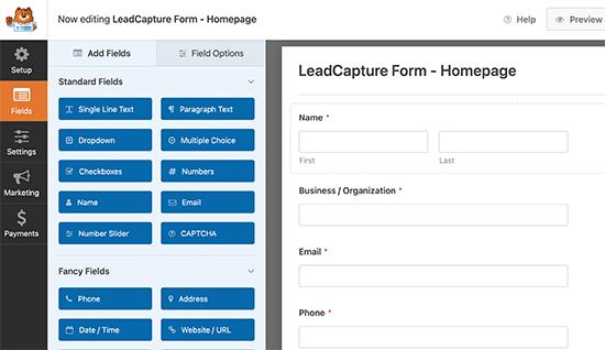 Générateur de formulaires WPForms