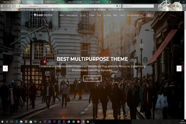 slider s'appelle flash ou une page