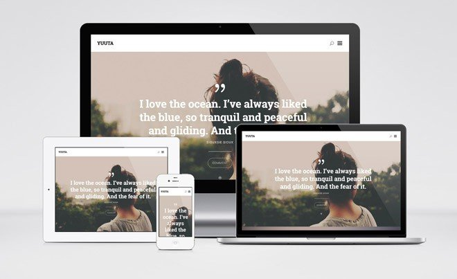 yuuta wordpress theme